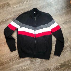 Express Men Black Full Zip Sweater